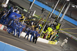 Greg Biffle's crew celebrates victory and Jack Roush's 100th career win in NASCAR?s Nationwide Serie