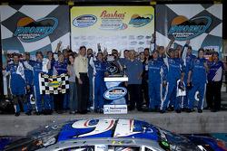 Victory lane: race winner Greg Biffle celebrates with his team