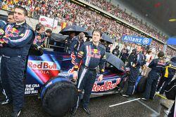 Sebastian Vettel's car on the grid