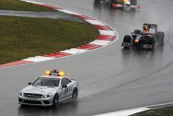 Sebastian Vettel, Red Bull Racing behind the saftey car