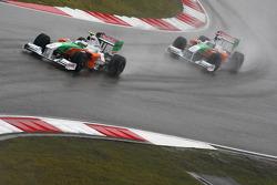 Giancarlo Fisichella, Force India F1 Team ve Adrian Sutil, Force India F1 Team