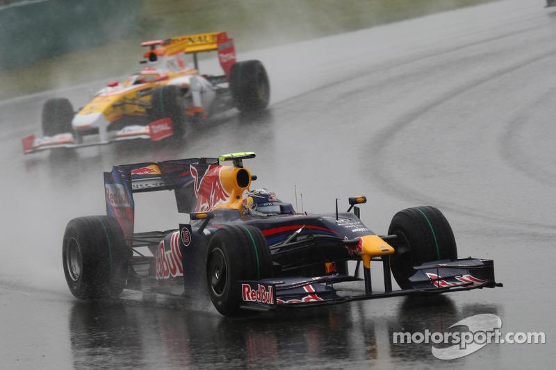 Vettel garantiu sua primeira vitória pela Red Bull logo em sua terceira corrida pela equipe, no GP da China em 2009