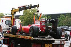 Машина Фелипе Массы, Scuderia Ferrari, после схода
