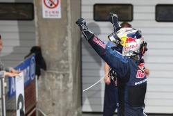 Race winner Sebastian Vettel, Red Bull Racing, celebrates