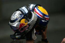 Casco de Sebastian Vettel, Red Bull Racing y Mark Webber, Red Bull Racing