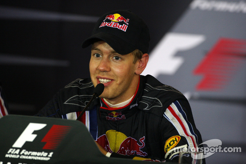 Vettel em coletiva de imprensa