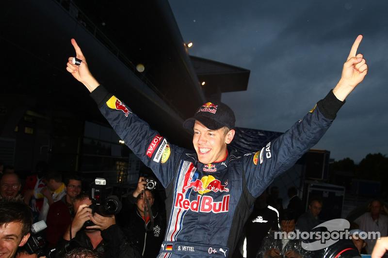 Sebastian Vettel, Red Bull Racing, celebra