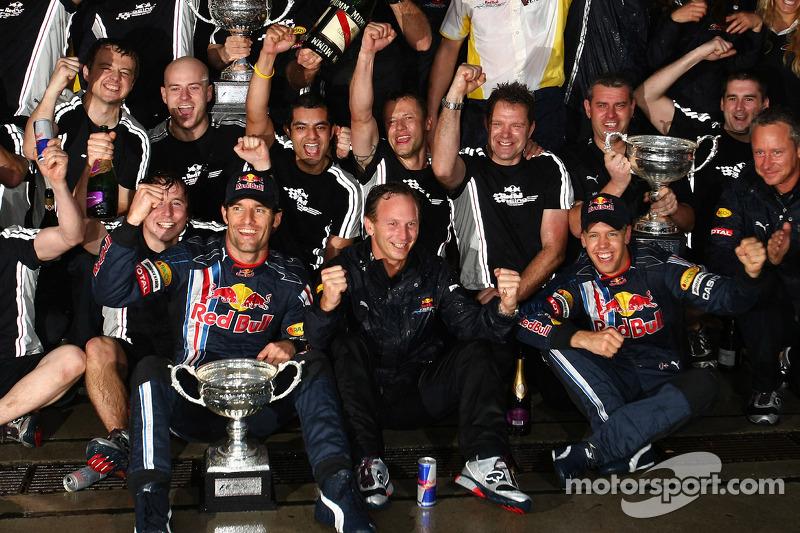 O GP da China marcou ainda a primeira vitória da equipe na categoria. Nos quatro anos seguintes, a parceria Red Bull-Vettel conquistou todos os títulos de pilotos e construtores