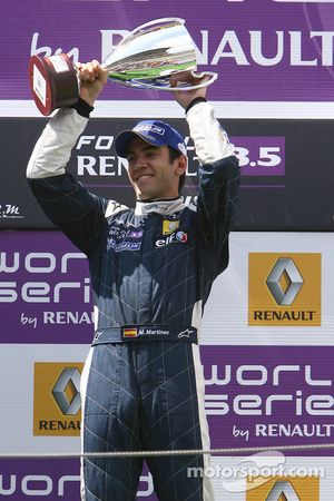 Podium: race winner Marcos Martinez