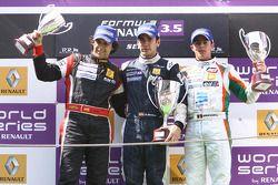 Podium: race winner Marcos Martinez, second place Bertrand Baguette, third place Adrian Valles
