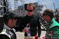 Ernesto Viso, HVM Racing, Robert Doornbos, Newman/Haas/Lanigan, and Tony Kanaan, Andretti Green Raci