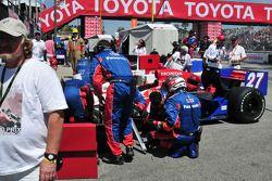 Hideki Mutoh, Andretti Green Racing being worked on