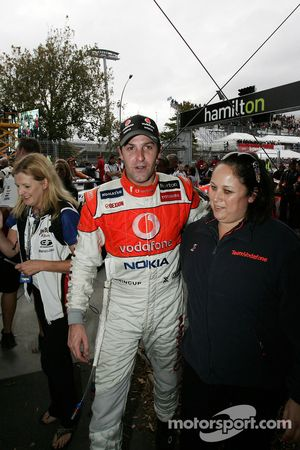 Jamie Whincup after winning race 2 in Hamilton