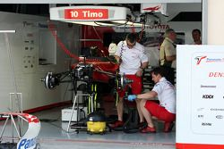 Toyota F1 Team pit area