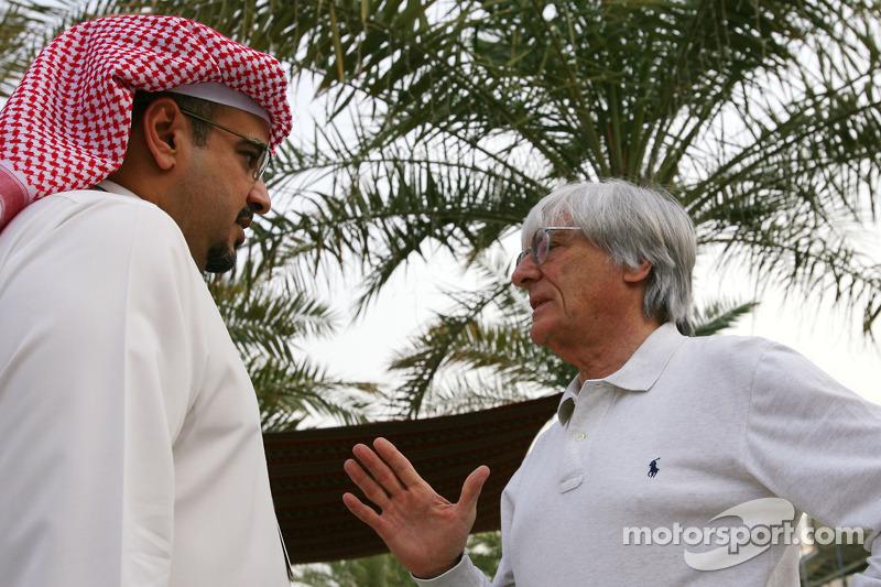 Abdulla bin Isa Al Khalifa et Bernie Ecclestone