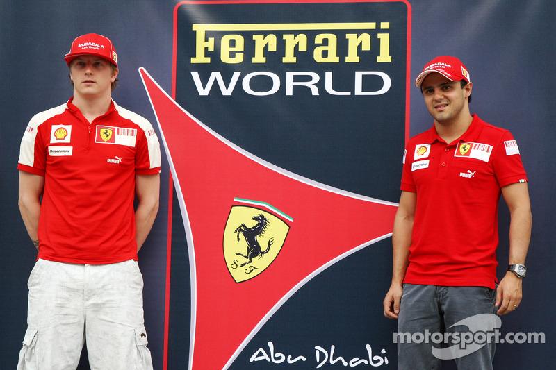759791ee74a183 Kimi Raikkonen, Scuderia Ferrari and Felipe Massa, Scuderia Ferrari, in  front of a