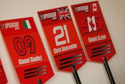 Grid boards for Gianni Giudici, Chris Buncombe Team Lavaggi and Ramez Azzam