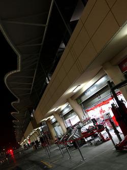 pitlane, night, garajı, Felipe Massa, Scuderia Ferrari