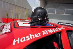 Le casque d'Hasher Al Maktoum, UP Team