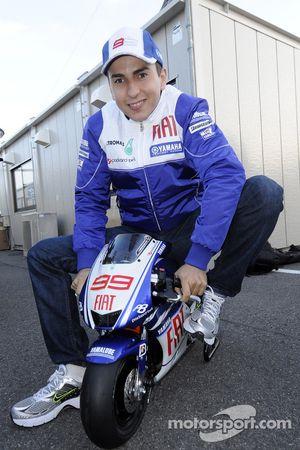 Jorge Lorenzo, Fiat Yamaha Team on a mini Yamaha