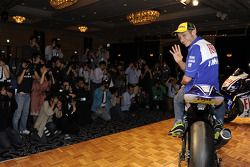 Yamaha R1 launch in Tokyo: Valentino Rossi, Fiat Yamaha Team