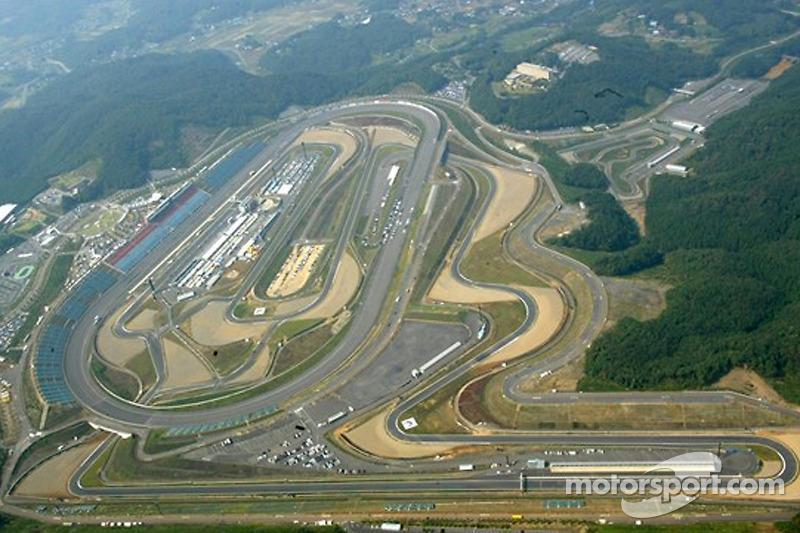 Вид с воздуха на трассу Гран При Японии