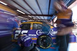 Roush Fenway Racing Ford crew members at work