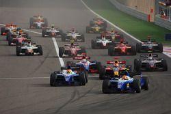Début de la course, Diego Nunes, Piquet GP, Roldan Rodriguez, Piquet GP