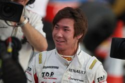 Kamui Kobayashi celebrates becoming 2009 GP2 Asia Champion