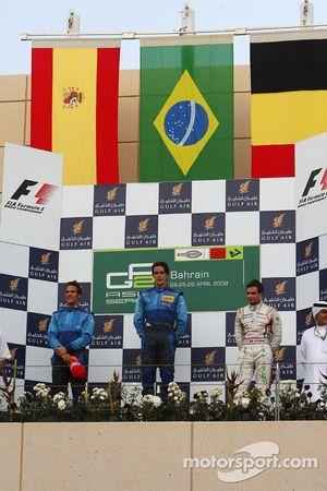 Podium: race winner Diego Nunes, Piquet GP, second place Roldan Rodriguez, third place Jerome D'Ambrosio