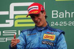 Podium: race winner Diego Nunes, Piquet GP