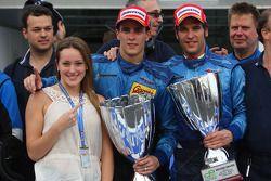 Le vainqueur Diego Nunes, Piquet GP et Roldan Rodriguez, Piquet GP