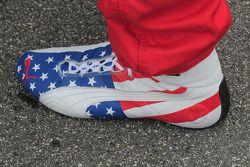 Graham Rahal's, Newman/Haas/Lanigan Racing shoe, very patriotic