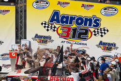 Victory lane: race winner David Ragan celebrates