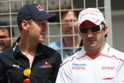 Sebastian Vettel, Red Bull Racing y Timo Glock, Toyota F1 Team