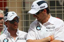 Nick Heidfeld, BMW Sauber F1 Team ve Robert Kubica, BMW Sauber F1 Team