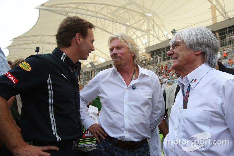 Christian Horner, Red Bull Racing, Director deportivo, Sir Richard Branson, CEO de Virgin Group y Be