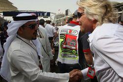 Mohammed bin Sulayem ve Sir Richard Branson CEO, Virgin Group