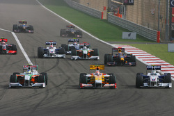 Start: Adrian Sutil, Force India F1 Team Nelson A. Piquet, Renault F1 Team ve Nick Heidfeld, BMW Sau