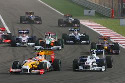 Start: Nelson A. Piquet, Renault F1 Team ve Nick Heidfeld, BMW Sauber F1 Team