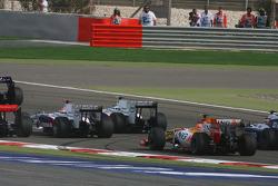 Start: Robert Kubica, BMW Sauber F1 Team ve Nelson A. Piquet, Renault F1 Team