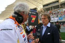 Luca di Montezemolo, Scuderia Ferrari, Presidente de FIAT y Presidente de Ferrari y Flavio Briatore, jefe del equipo, Renault F1 Team, Director General