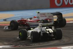 Timo Glock, Toyota F1 Team ve Rubens Barrichello, Brawn GP
