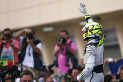 Ganador de la carrera Jenson Button, Brawn GP celebrates