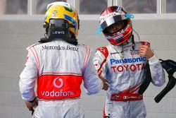 Lewis Hamilton, McLaren Mercedes y Jarno Trulli, Toyota F1 Team
