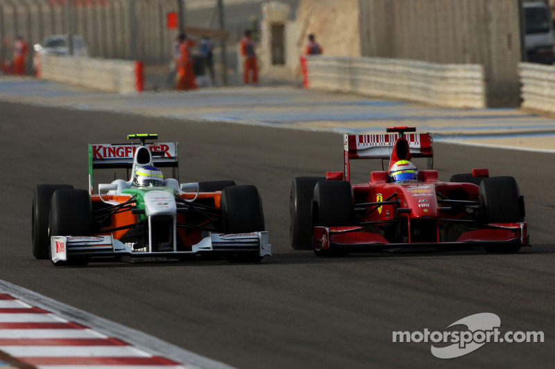 Giancarlo Fisichella, Force India F1 Team y Felipe Massa, Scuderia Ferrari