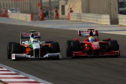Giancarlo Fisichella, Force India F1 Team y Felipe Massa, Scuderia Ferrari
