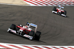 Timo Glock, Toyota F1 Team ve Jarno Trulli, Toyota F1 Team