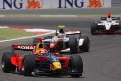 Luiz Razia leads Davide Rigon and Sakon Yamamoto