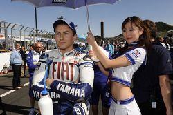 Jorge Lorenzo, Fiat Yamaha Team with his grid girl
